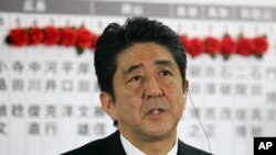 Cử tri Nhật Bản chọn ông Shinzo Abe theo chủ trương diều hâu trở lại làm Thủ tướng.