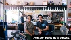 Champ Ensminger (right) worked with his grandmother, Ninlawan Pinyo (left), in Yai Nin, Ensminger's short documentary.
