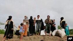 外出逃難的羅興亞少數族裔 (2017年8月31日)