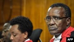 Le juge de la Cour suprême kényane, David Maraga à la à Nairobi, le 11 décembre 2017.