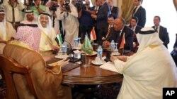 وزرای خارجه عربستان سعودی، امارات متحده عربی، مصر و بحرین