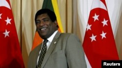 FILE: Sri Lanka's Foreign Minister Ravi Karunanayake attends a bilateral meeting in Colombo, Sri Lanka, July 18, 2017.
