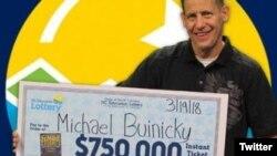 مایکل بوئینیکی برای بار دوم برنده بلیت بخت آزمایی می شود - عکس از UPI Twitter