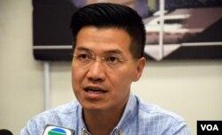 香港一地兩檢關注組成員范國威。(美國之音湯惠芸)