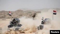 Pasukan keamanan Irak dan milisi Syiah terus maju dalam upaya merebut kota Fallujah dari kelompok militan ISIS, Selasa (24/5).
