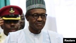 Shugaban Najeriya Muhammadu Buhari kuma Ministan Man Fetur