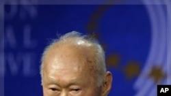加坡前領導人李光耀(資料圖片)