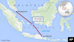 دا مسافر وړونکی الوتکه د اندونیزیا د سورابایا د ښار څخه د سینگاپور په هدف روانه شوې وه