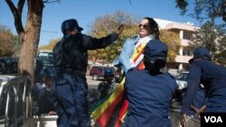FILE: One of the arrested protesters Jenni Williams at Queens Sports Club in Bulawayo