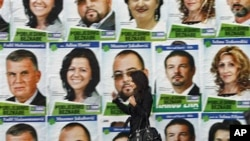 Election posters in Sarajevo, 01 Oct 2010