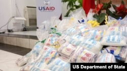 Fortified food on display for Haiti.