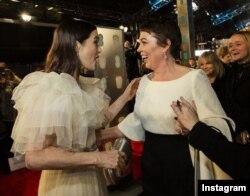 ریچال وایس و اولیویا کولمن در فیلم سوگلی همبازی بودند