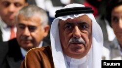 FILE - Saudi Arabia's Finance Minister Ibrahim Alassaf attends the Egypt Economic Development Conference (EEDC) in Sharm el-Sheikh, in the South Sinai governorate, south of Cairo, March 14, 2015.
