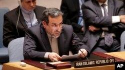 ລັດຖະມົນຕີຕ່າງປະເທດອີຣ່ານ ທ່ານ Mohammad Javad Zarif (ຊ້າຍ) ພົບປະກັບ ລັດຖະມົນຕີຕ່າງປະເທດສະຫະລັດ ທ່ານ John Kerry (ຂວາ) ໃນການເຈລະຈາລະຫວ່າງ 6 ລັດຖະມົນຕີຕ່າງປະເທດຈາກ ມະຫາອຳນາດ ກັບ Tehran ກ່ຽວກັບໂຄງການນິວເຄລຍ.