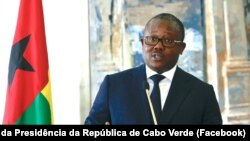 Úmaro Sissoco Embaló, Presidente da Guiné-Bissau, em Cabo Verde, Praia, 8 de Julho de 2021