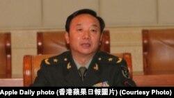 總部設在廣東惠州的解放軍第42集團軍政委陳傑少將 (蘋果日報圖片)