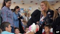 Lohan ha estado visitando familias de refugiados e instalaciones en toda Turquía en las dos últimas semanas.