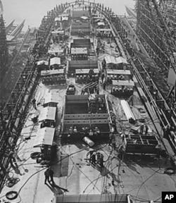 美国战争时期的一个造船中心