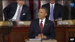 Rais Obama akitoa hotuba ya hali ya kitaifa.