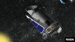 Artist's rendering of the Kepler Space Telescope in orbit. (NASA)