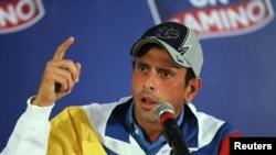 """Henrique Capriles, líder de la oposición, ha pedido gastar las energías del pueblo venezolano en """"construir, no destruir""""."""