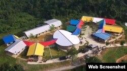 Hình ảnh ngôi trường Lũng Luông trên trang Facebook của Quỹ Phượng Hoàng.