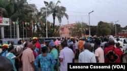 Une manifestation à Bissau, 2 fevrier 2018.