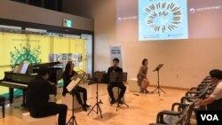 6월 호국보훈의 달을 맞아 7일 서울 종로구 대한민국역사박물관에서 전쟁과 평화 음악회가 열리고 있다.