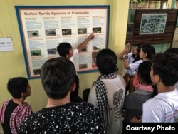 Mekong Ambassador conducted a field study trip to Mekong Turtles Conservation Center in July 2018. (Courtesy photo of Young Eco Ambassador)