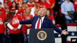 Presiden AS Donald Trump dalam salah satu acara kampanyenya (foto: dok).