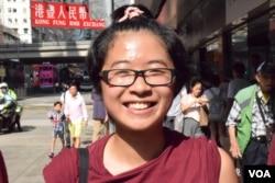 香港理工大學社工系學生黃同學。(美國之音湯惠芸攝)