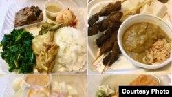 """Berbagai macam makanan yang disajikan dalam festival kuliner halal bertajuk """"Indo Feast"""" di San Jose, California, AS, sebagai ilustrasi. (Foto: Ake Pangestuti)."""
