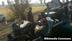 Tovuzda avtomobil qəzası (Foto kepeztv.az saytınındır)