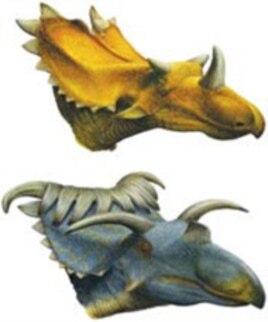Reconstructions of Utahceratops gettyi and Kosmoceratops richardsoni