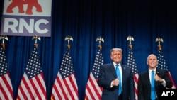 Umongameli Donald Trump lomsekeli wakhe uMnu Mike Pence.