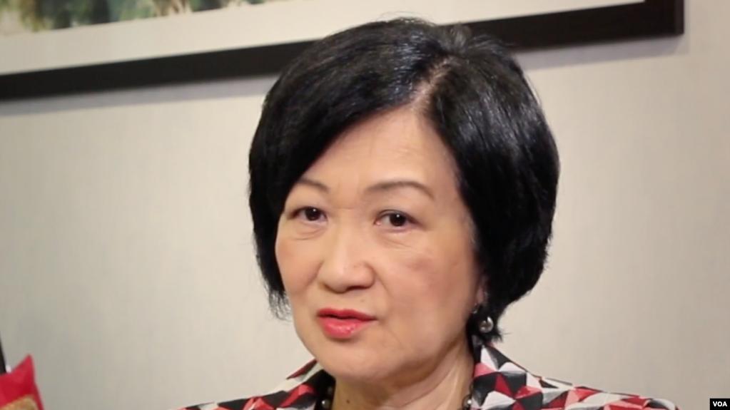 香港建制派领袖、原保安局长叶刘淑仪接受美国之音采访。(2019年10月10日)(photo:VOA)