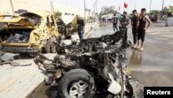 El distrito Daydiya en el sur de Bagdad, Irak, fue escenario del ataque con coche bomba el lunes, 2 de mayo de 2016.