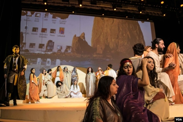 More than 80 actors and singers are involved in the performance. (Photo: John Owens for VOA)