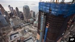 圖中左邊可看到世貿中心原址
