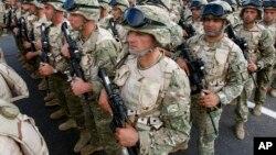 Грузинские войска под командованием НАТО