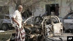 六月初索馬里一家酒店曾經遭青年黨襲擊。