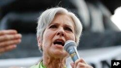 Calon Presiden AS dari Partai Hijau, Jill Stein saat kampanye di Philadelphia, 27 Juli 2016 lalu (foto: dok).