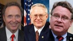 Từ trái: Dân biểu Dan Lungren, Joseph Pitts, và Chris Smith