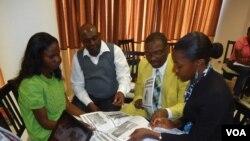 Jornalistas em formação no Lubango
