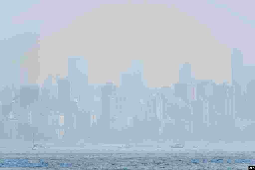 هجوم ریزگردها به آسمان ونکوور کانادا