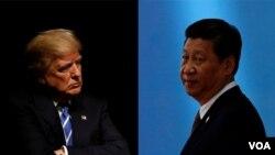 美国总统川普和中国国家主席习近平