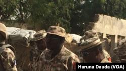 Des militaires nigérians à Borno, Nigeria., 23 janvier 2017.