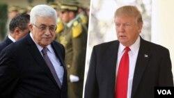 آقای ترامپ و عباس بعد از دیدار حدود ظهر کنفرانس خبری برگزار می کنند.
