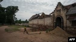 Une prison datant de 1924 à Libenge, le 23 juin 2015.