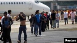 El vuelo fue el cuarto desde EE.UU. a Honduras con migrantes deportados.